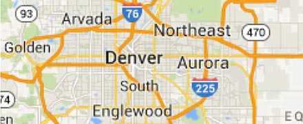 Denver service area small map