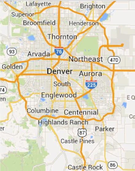 Denver service area map