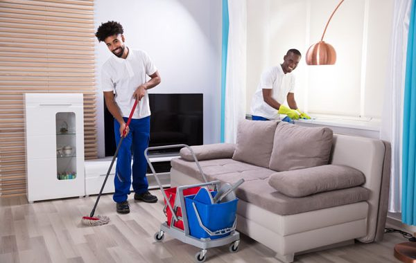 residential cleaning service in Denver, CO at work
